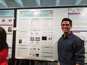 Carla y Andrés, presentando sus investigaciones en el 38th Annual Research and Education Forum. 2