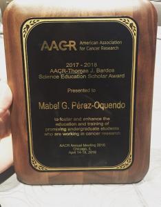 AACR-Thomas J. Bardos Science Education 1